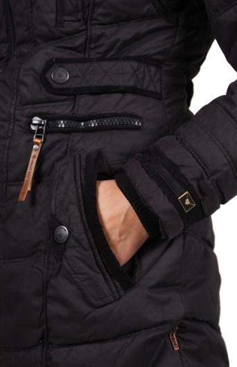 naketano wintermantel mantel mutantina ii schwarz. Black Bedroom Furniture Sets. Home Design Ideas