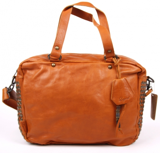 legend bag tasche handtasche leder daytona cognac ebay. Black Bedroom Furniture Sets. Home Design Ideas