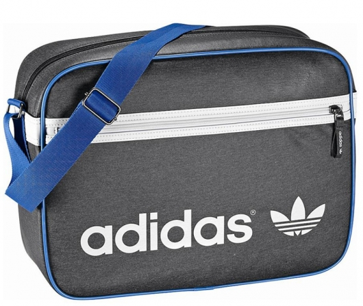 adidas originals tasche messenger schultasche airline bag grau weiss blau ebay. Black Bedroom Furniture Sets. Home Design Ideas