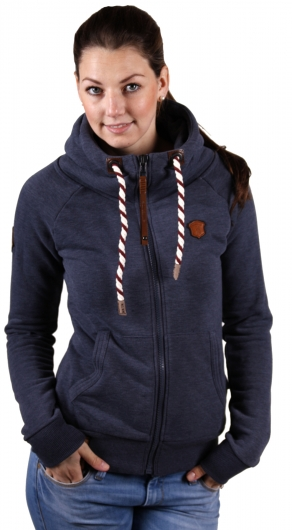 naketano sweatjacke jacke hoodie brazzo indigo blue melange ebay. Black Bedroom Furniture Sets. Home Design Ideas